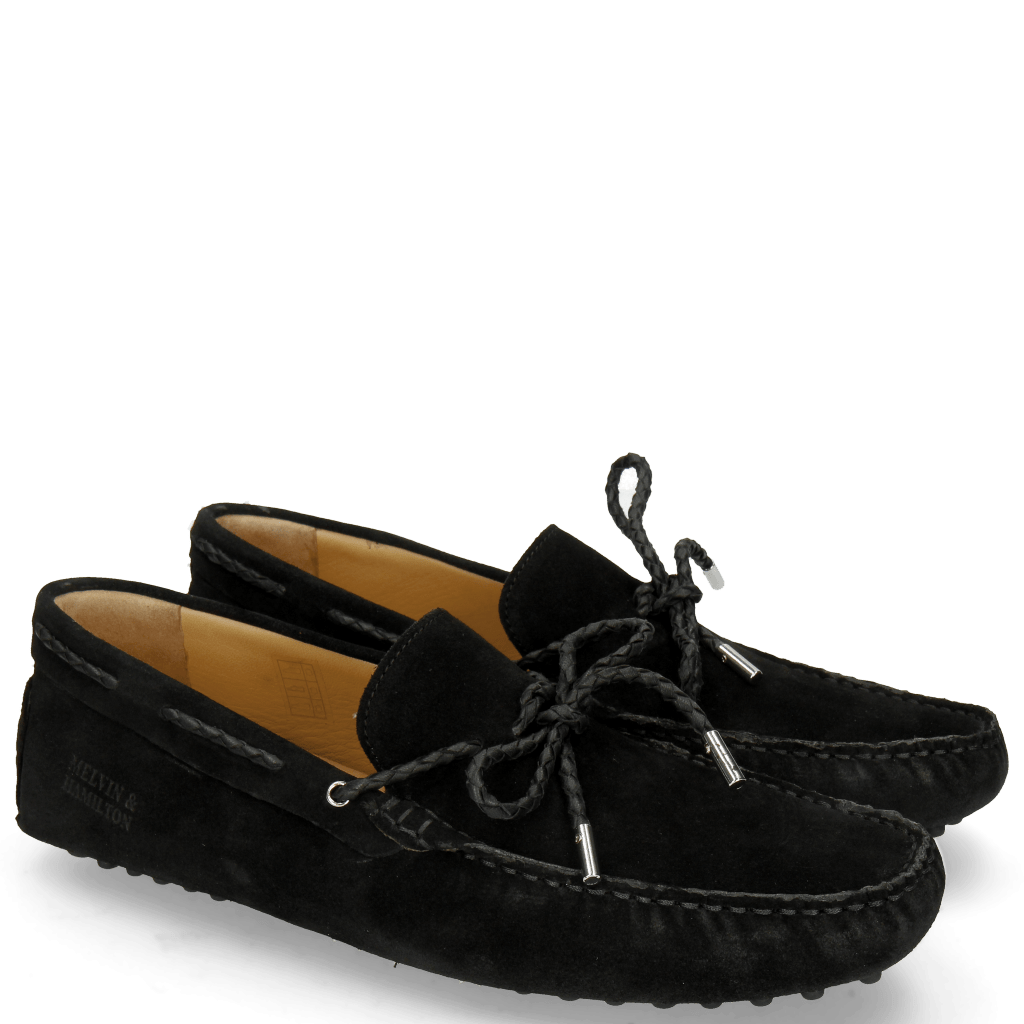 Loafers Nelson 3 Suede Pattini Black