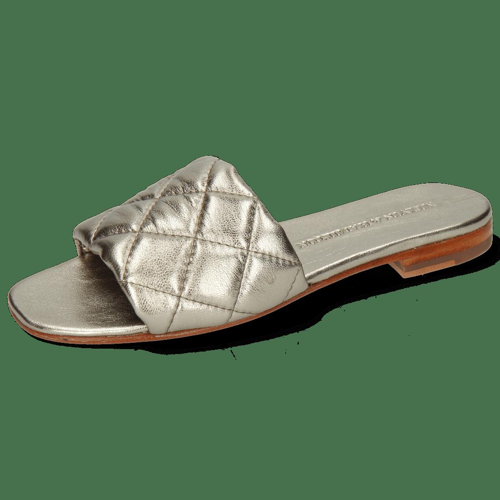 Muiltjes Elodie 37 Metallic Nappa Pewter Footbed