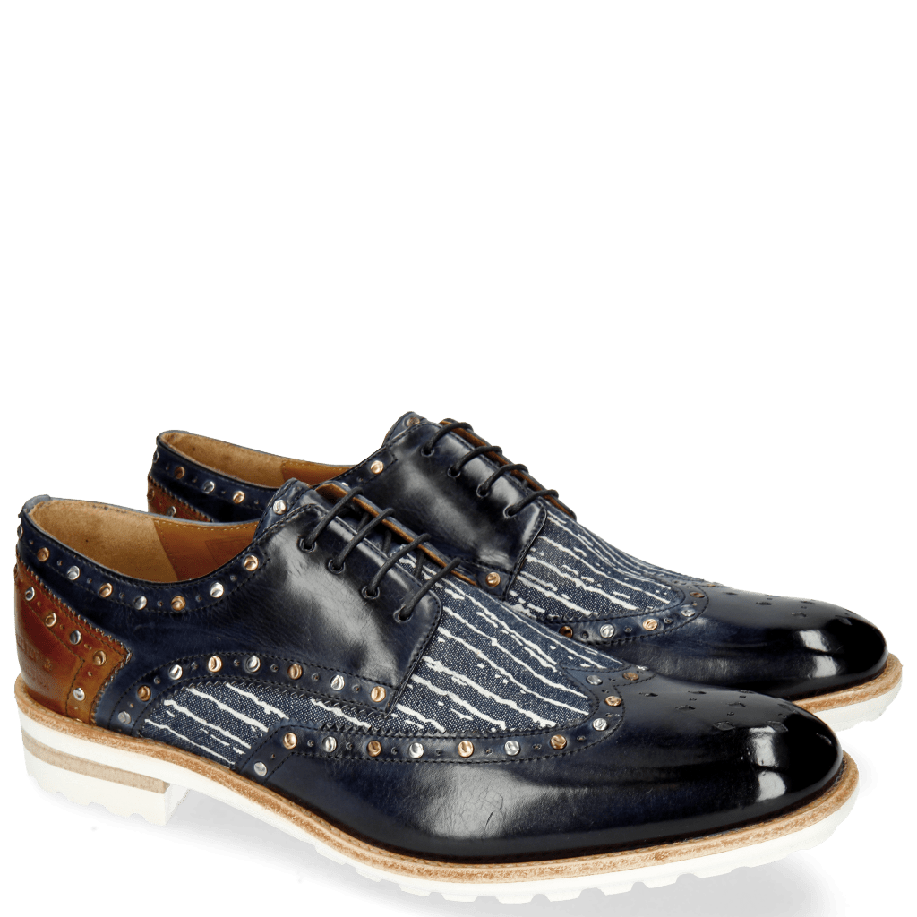Derby schoenen Eddy 27 Navy Denim Lines