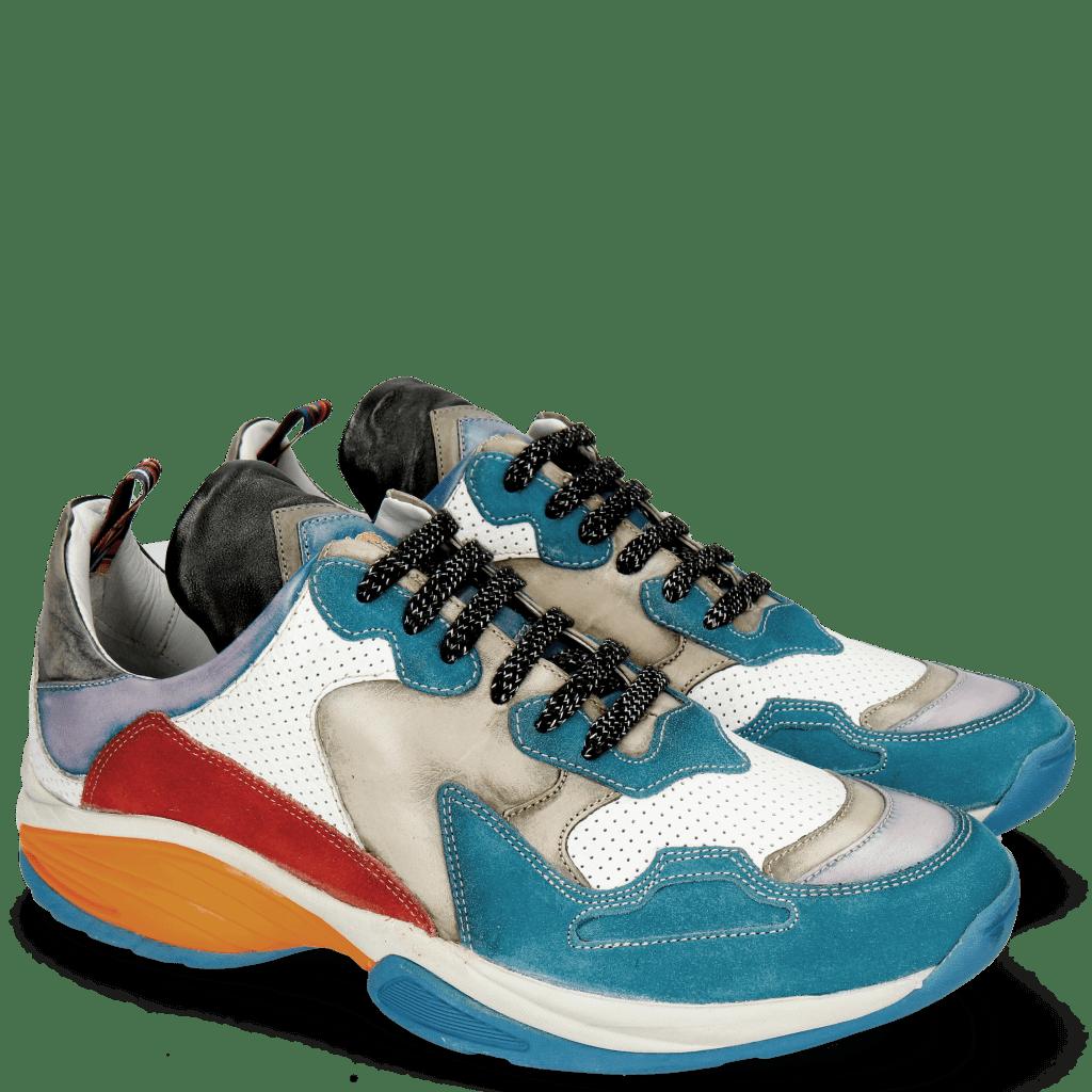 Sneakers Kobe 1 Suede Pattini Aqua Milled Perfo White