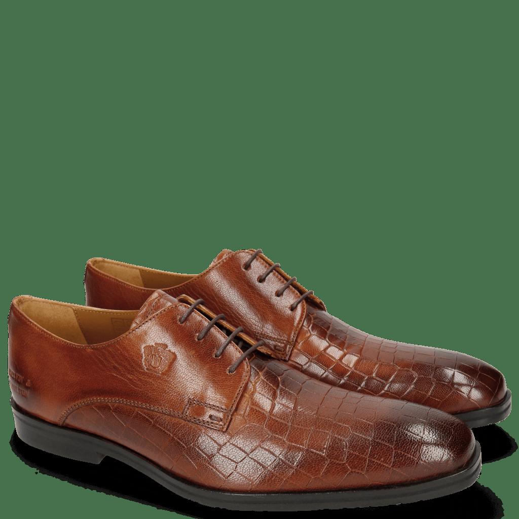 Derby schoenen Greg 4 Venice Crock Tan