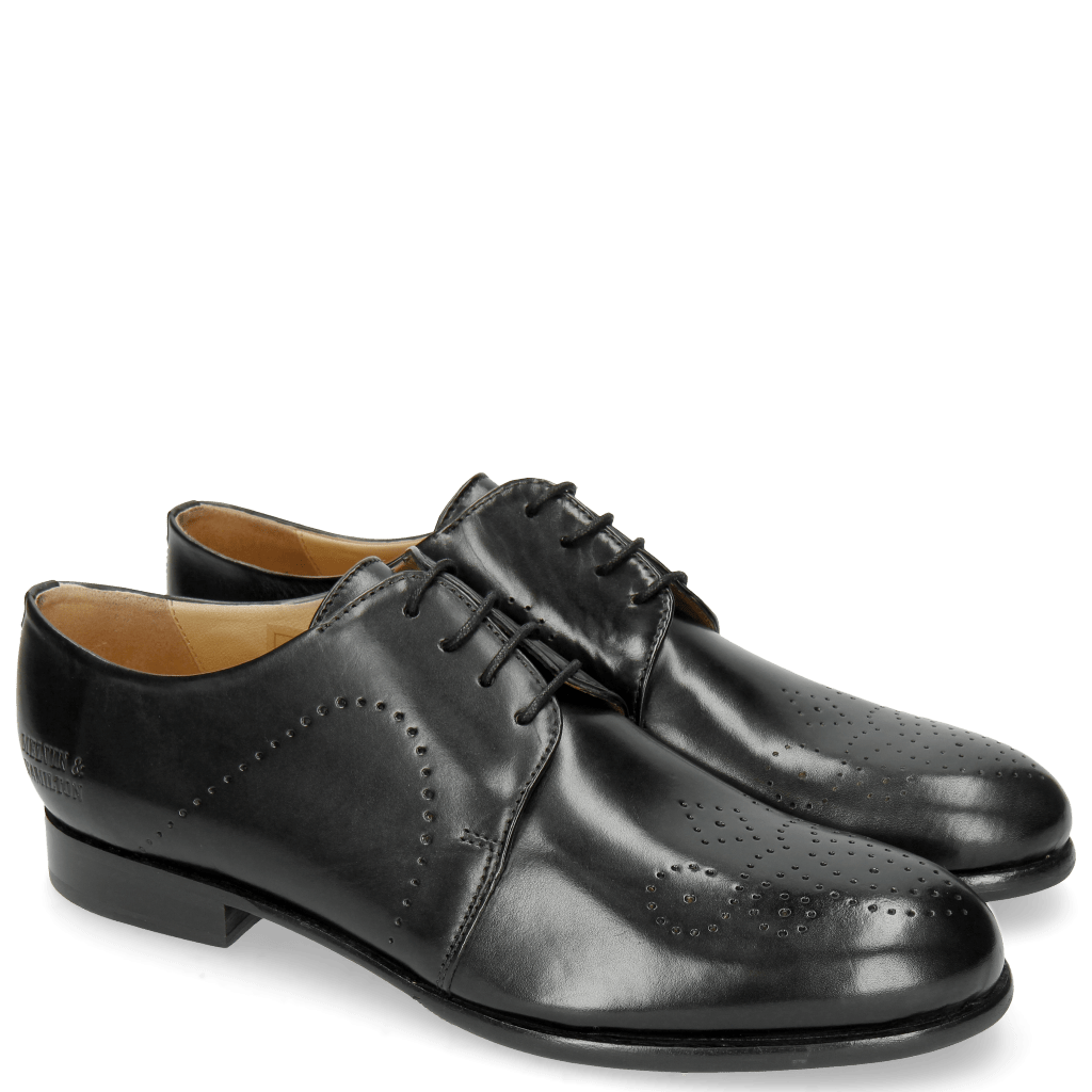 Derby schoenen Sally 1 Black Lining Rich Tan