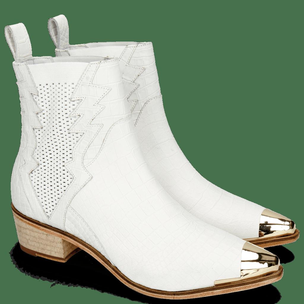Enkellaarzen May 1 Nappa White Toe Cap