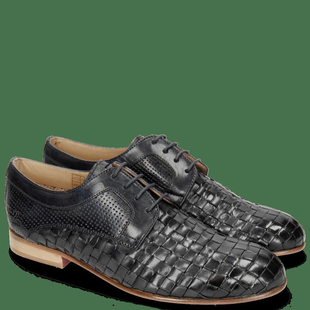 Derby schoenen Sally 37 Woven Nappier Perfo Navy