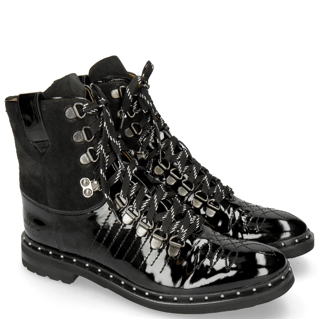 Enkellaarzen Amelie 74 Patent Lima Black
