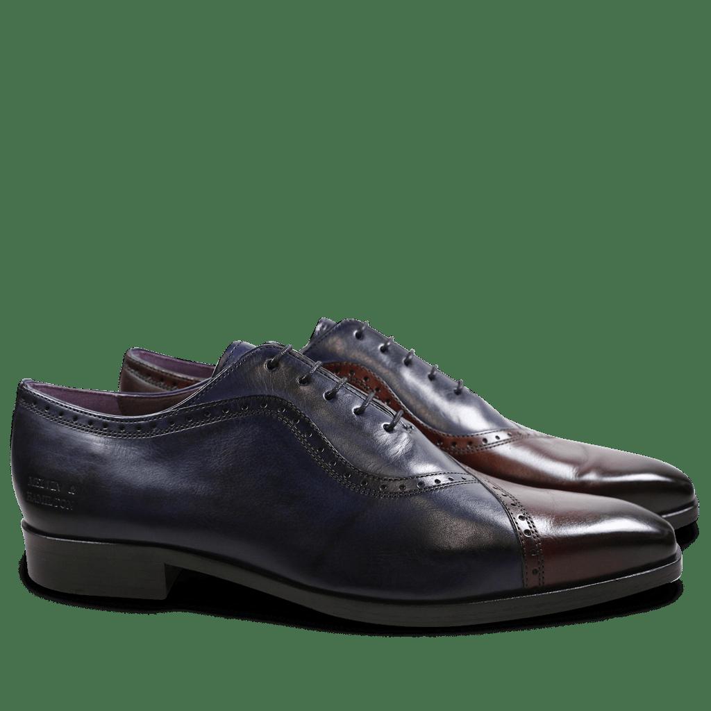 Oxford schoenen Lance 16 Burgundy Navy HRS
