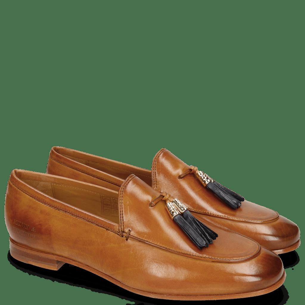 Loafers Scarlett 3 Tan Tassel Navy