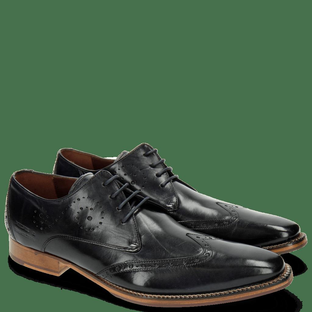 Derby schoenen Oskar 7 Navy Laces Navy
