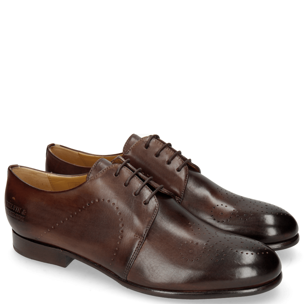 Derby schoenen Sally 1 Mogano