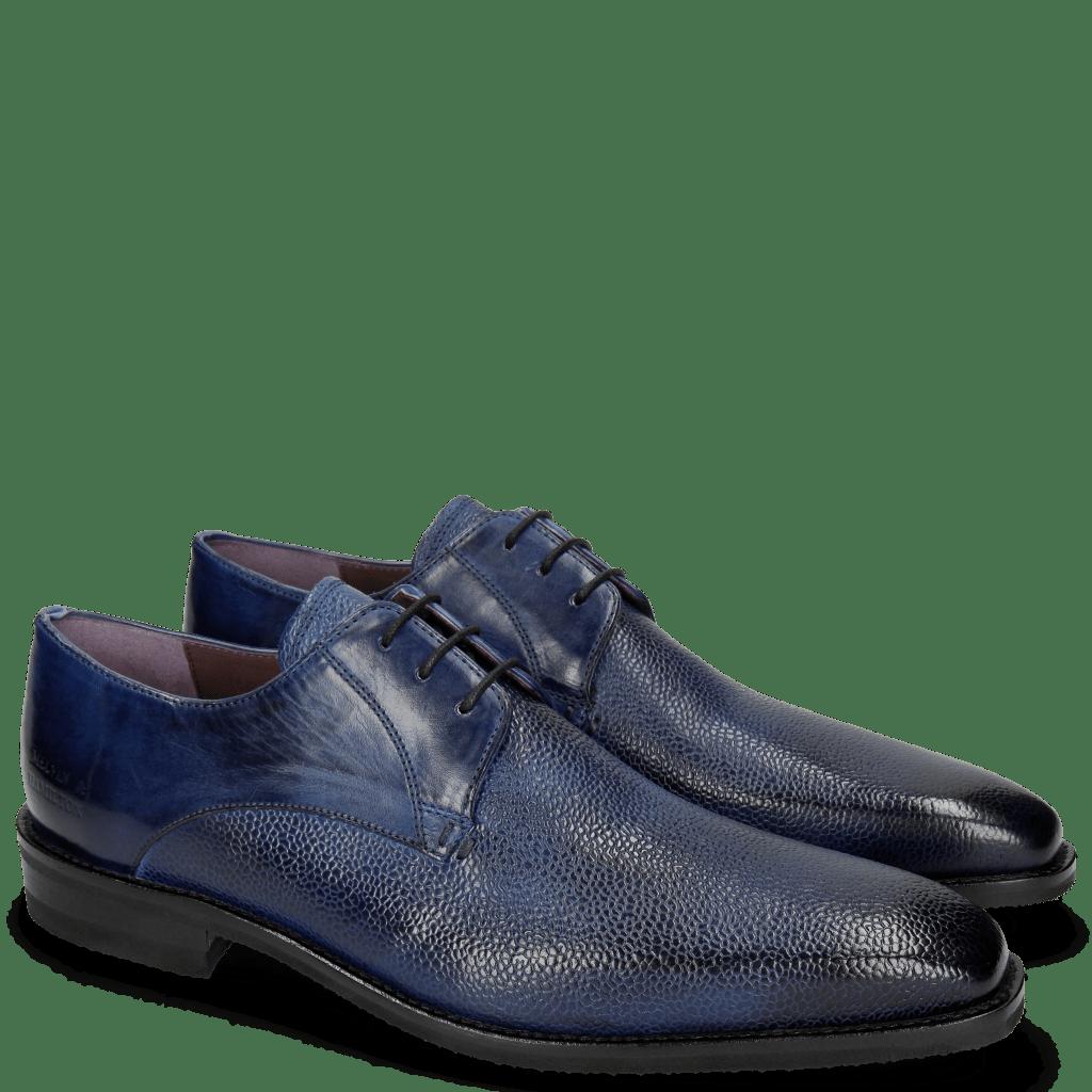 Derby schoenen Lance 8 Scotch Grain China Blue Chestnut