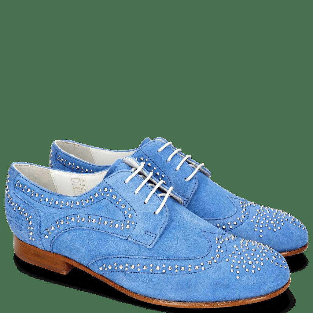 Derby schoenen Sally 53 Parma Suede Green Blue