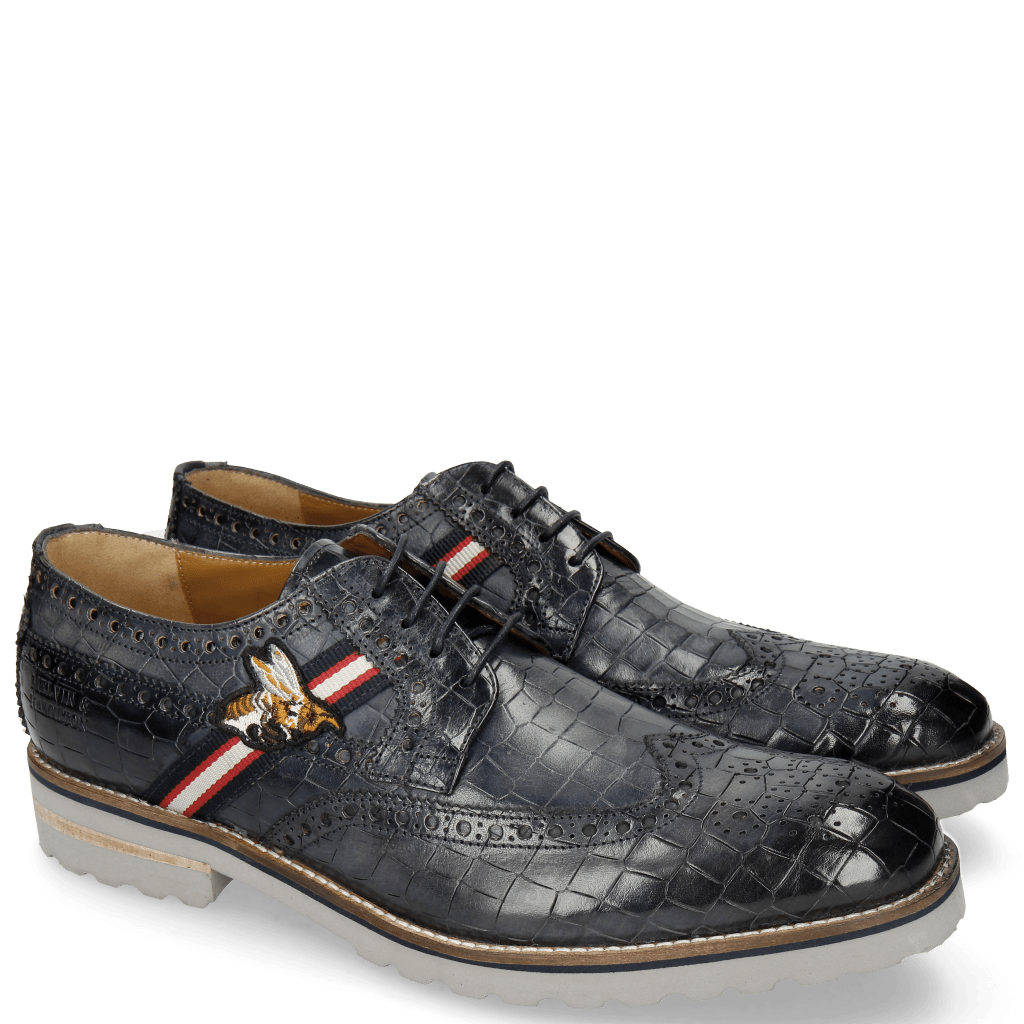 Derby schoenen Eddy 25 Crock Navy Strap