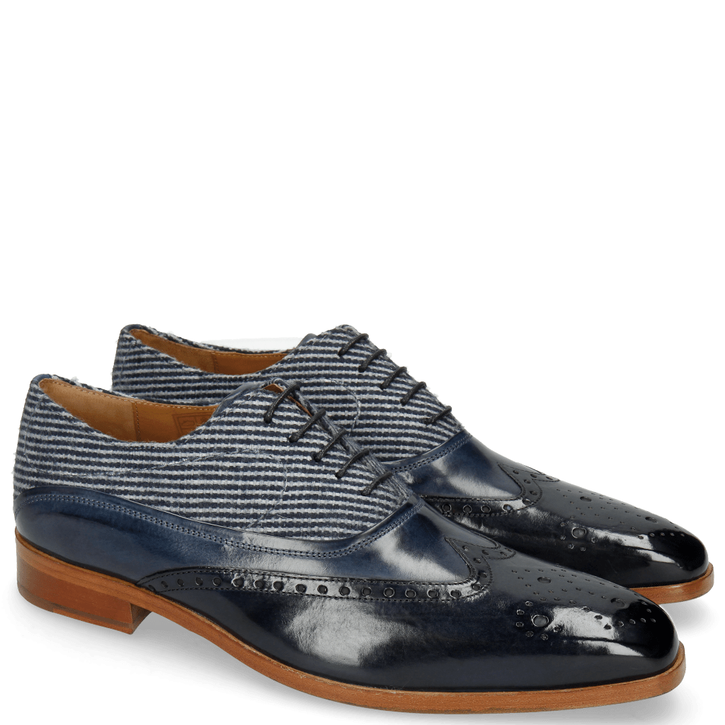 Oxford schoenen Lewis 4 Navy Wind Textile Stripes Blue