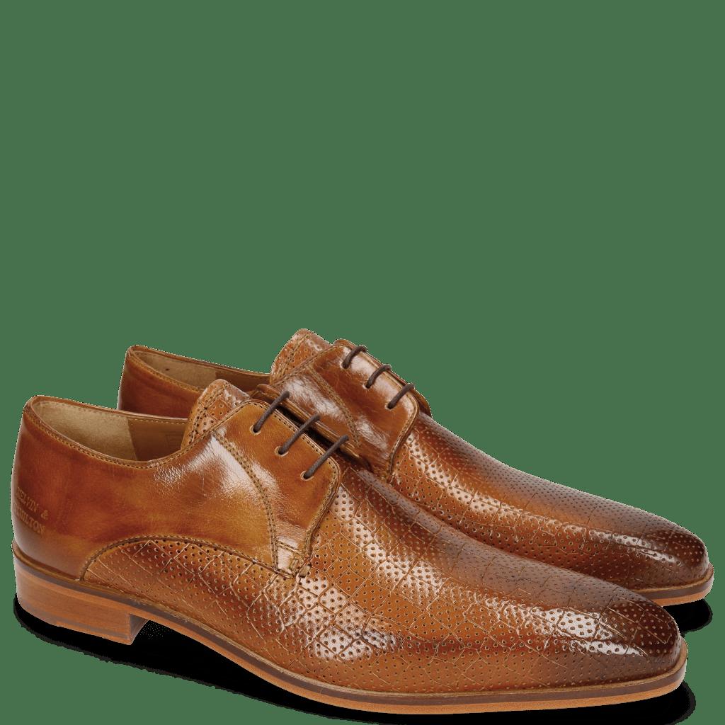 Derby schoenen Lance 8 Crock Perfo Tan