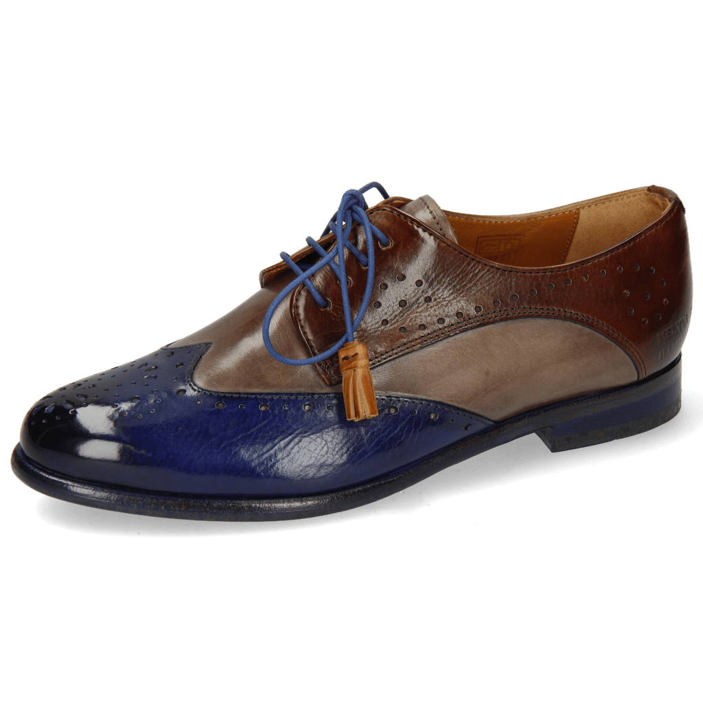 Derby schoenen Selina 41 Midnight Stone Mid Brown