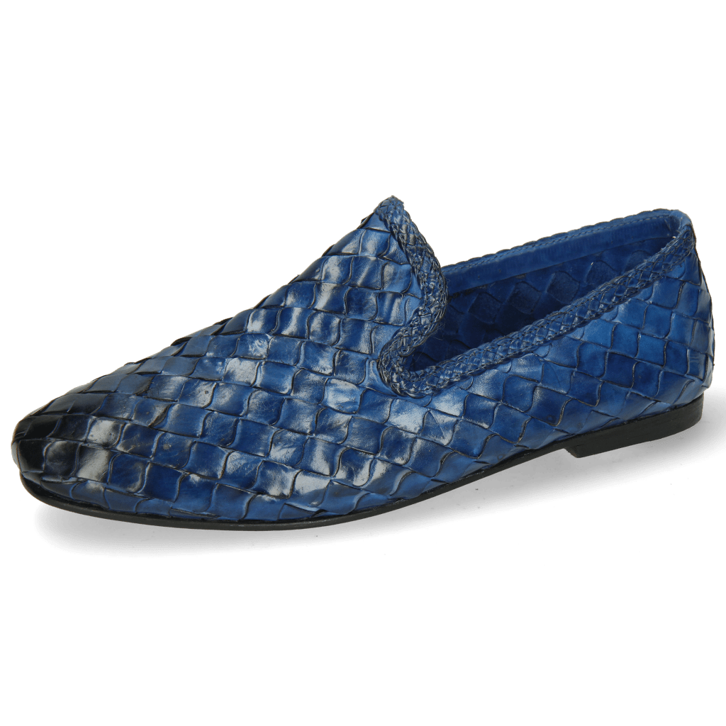 Loafers Mandy 1 Interlace Scale Weave Neptune