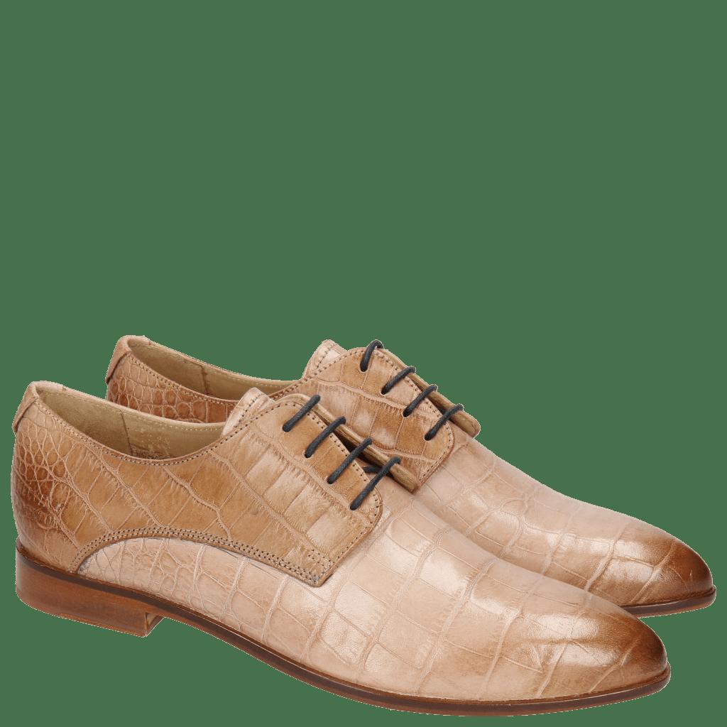 Derby schoenen Jessy 5 Baby Croco Pale Rose