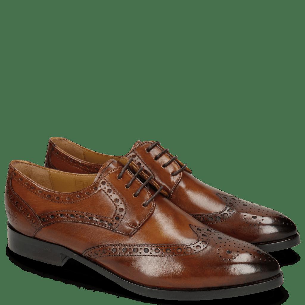 Derby schoenen Jessy 6 Wood HRS Brown