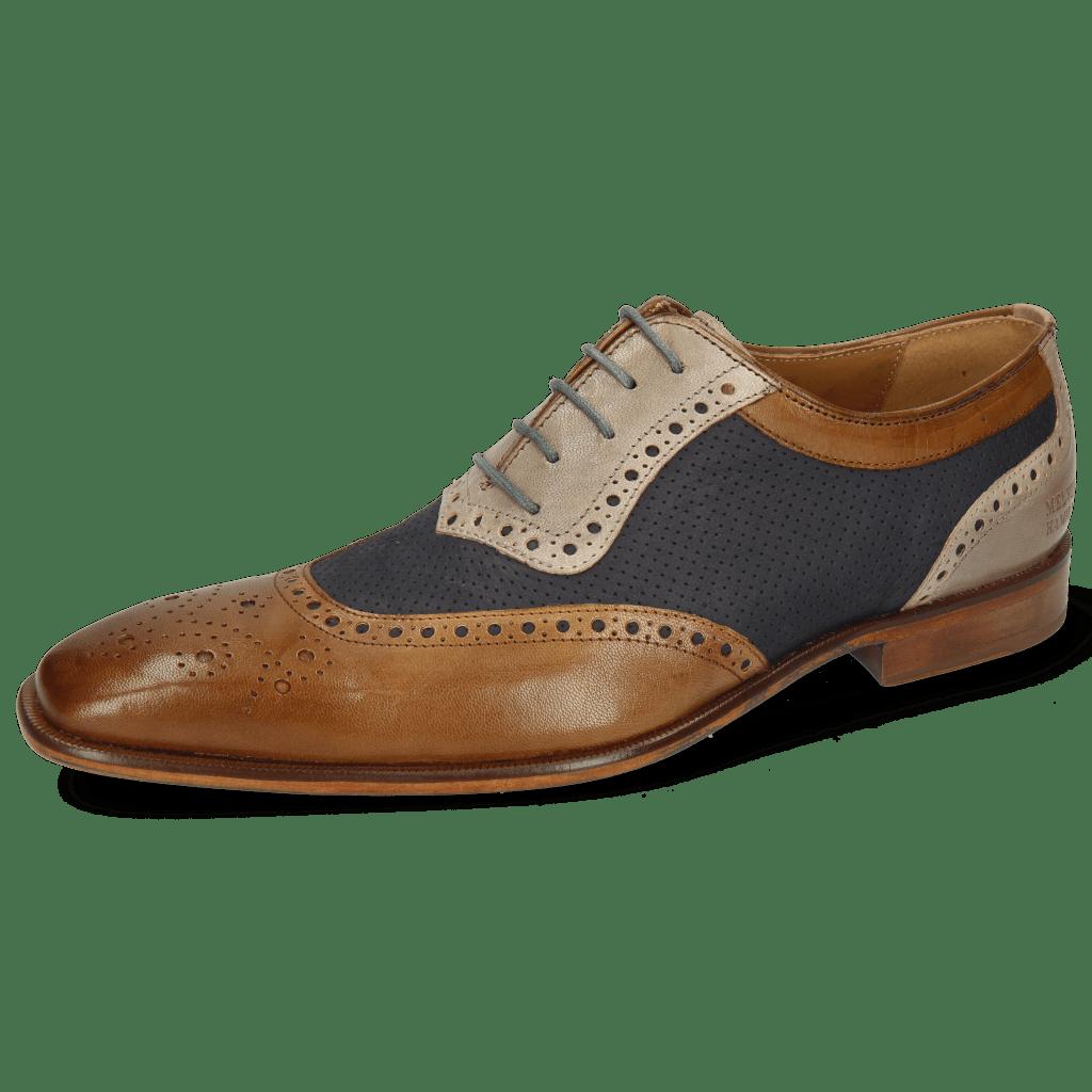 Oxford schoenen Clark 16 Venice Nougat Deep Navy Digital Nubuck Perfo Deep Navy