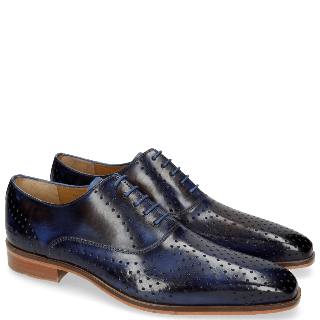 Oxford schoenen Lance 25 Electric Blue Navy Red
