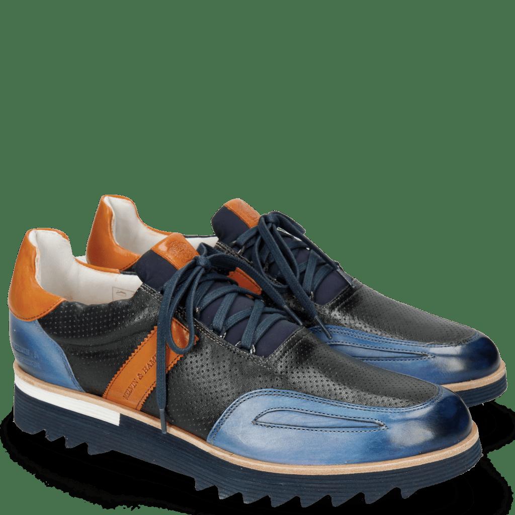 Sneakers Hank 2 Vegas Electric Blue Perfo Navy Orange