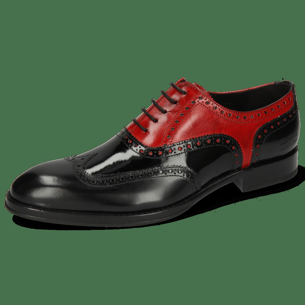 Oxford schoenen Kane 36 Rubber Patent Black Ruby
