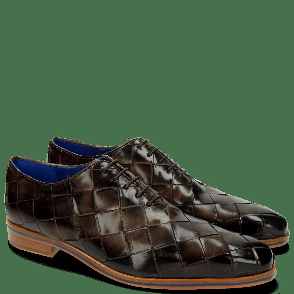 Oxford schoenen Lewis 37 Big Woven Dark Brown
