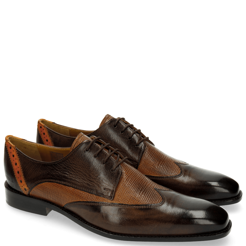 Derby schoenen Xabi 1 Berlin Haina Dark Brown
