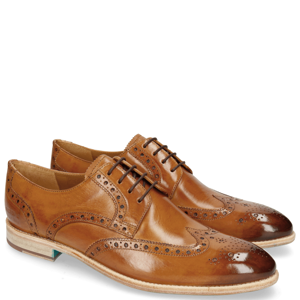 Derby schoenen Bobby 5 Washed Tan