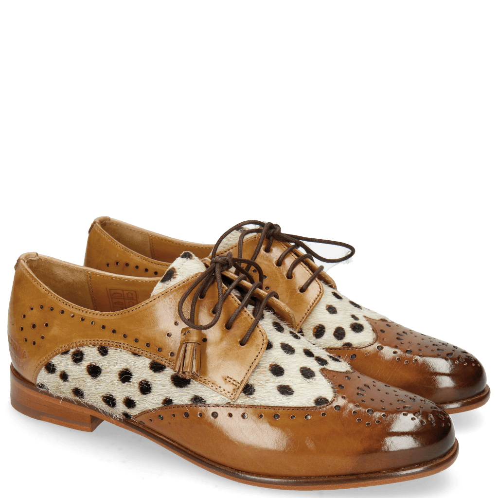 Derby schoenen Selina 41 Wood Sand Hairon Wildcat