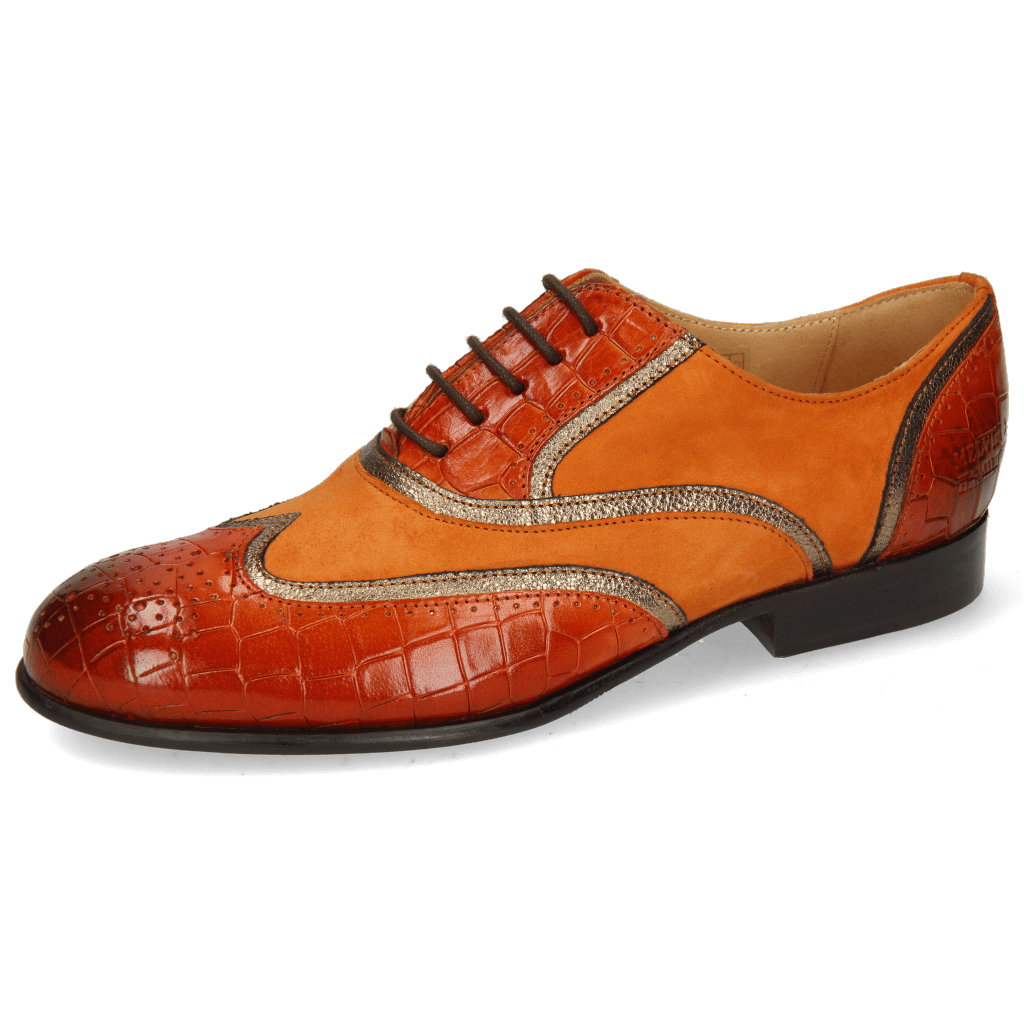 Oxford schoenen Sally 38 Crock Winter Orange Nappa Aztek Bronze