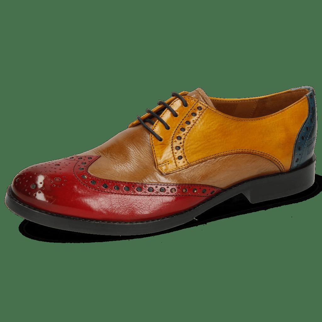 Derby schoenen Amelie 3 Pisa Ruby Cashmere Ocra Ice Lake