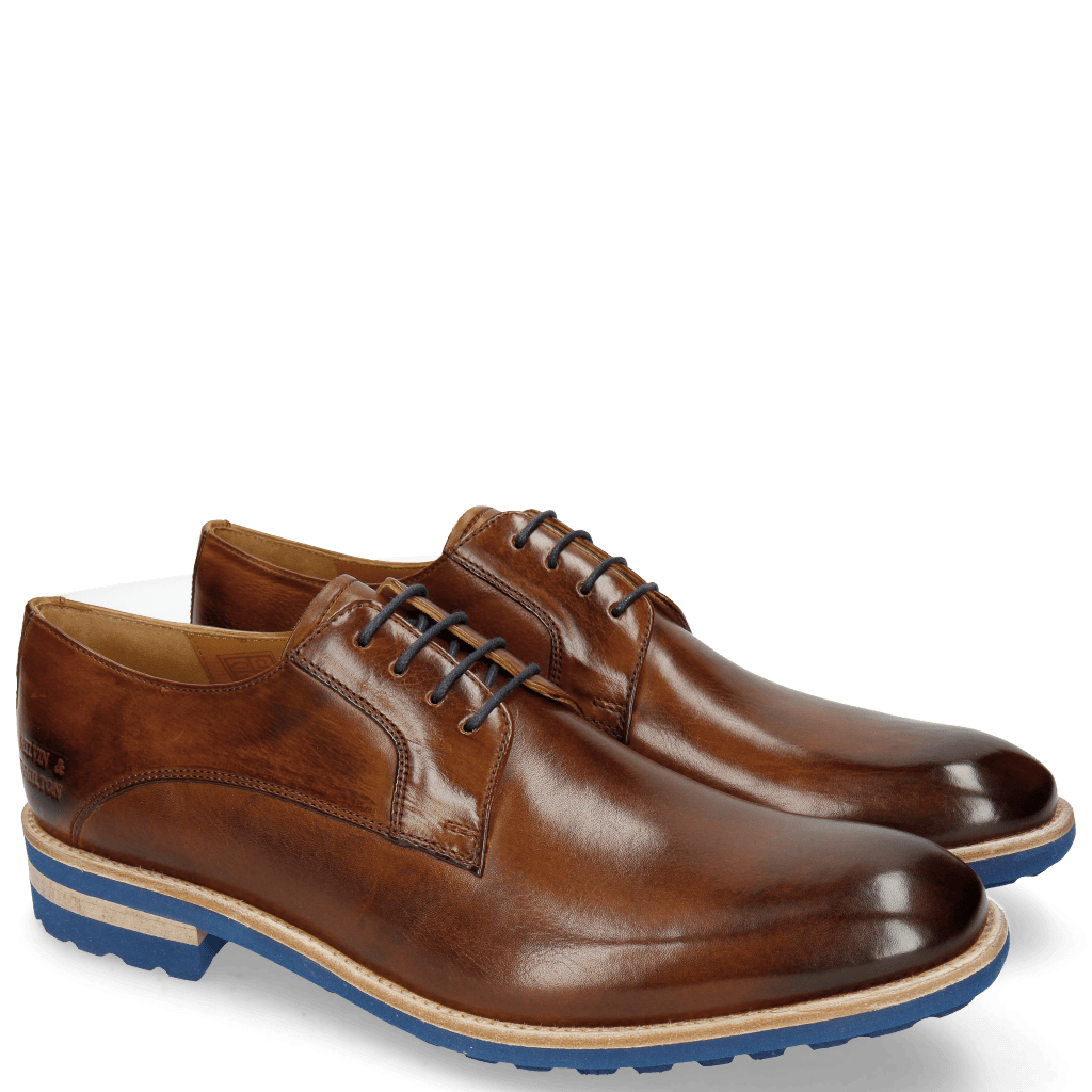 Derby schoenen Eddy 8 Wood Laces Navy