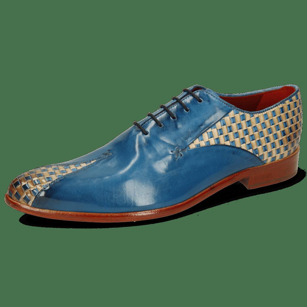 Oxford schoenen Toni 31 Woven Pop Blue Nude Mid Blue