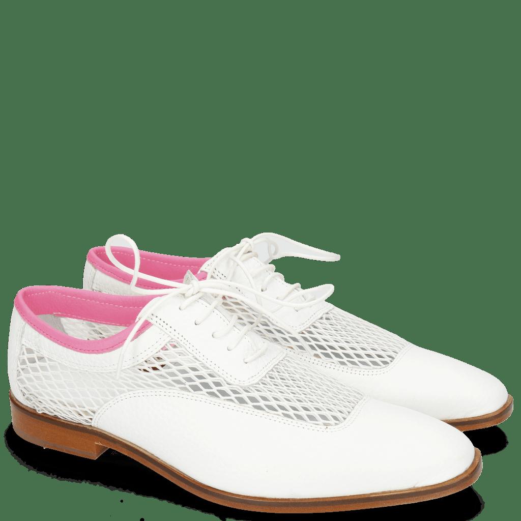 Oxford schoenen Sara 1 Milled White Big Net Fluo Pink