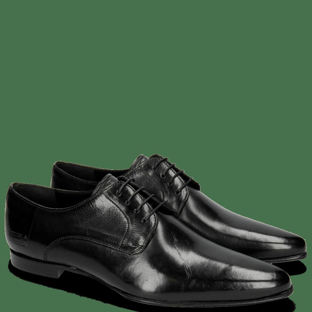 Derby schoenen Sidney 1 Black LS Slim