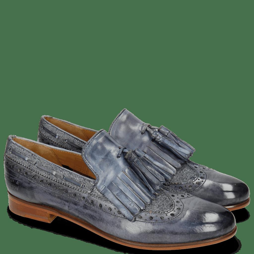 Loafers Selina 3 Moroccan Blue Denim Light Blue