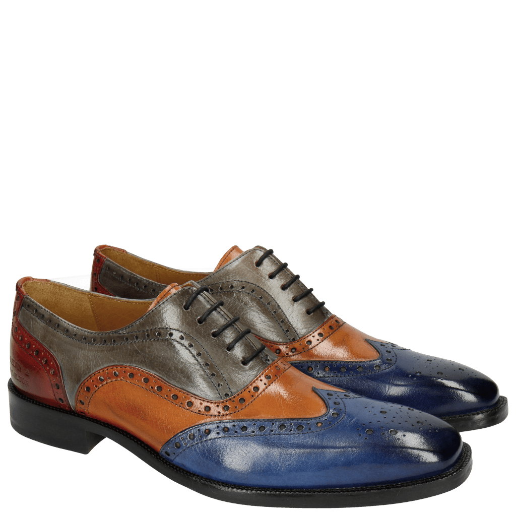 Oxford schoenen Jeff 24 Classic Electric Blue Electric Orange Sky Red