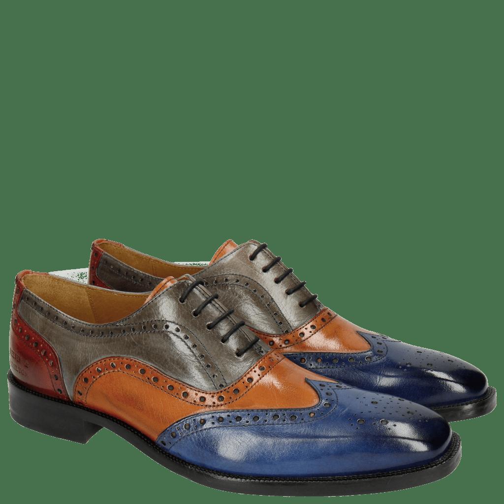 Oxford schoenen Jeff 24 Classic Electric Blue Electric Orange Sky Red