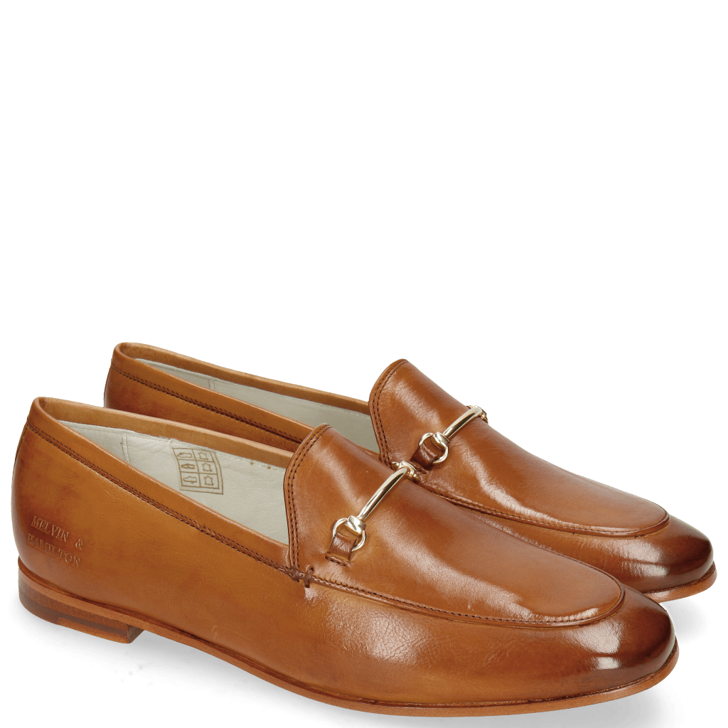 Loafers Scarlett 22 Glove Nappa Tan Trim Gold