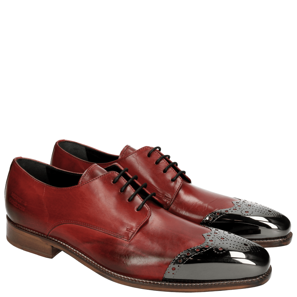 Derby schoenen Lance 1 Brilliant Red Metal Toe Cap