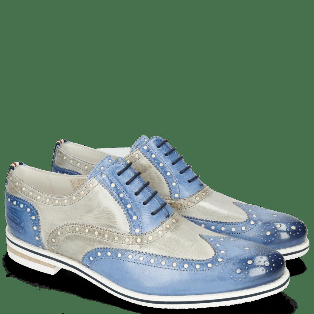 Oxford schoenen Scott 12 Vegas Neptune Blue Digital White