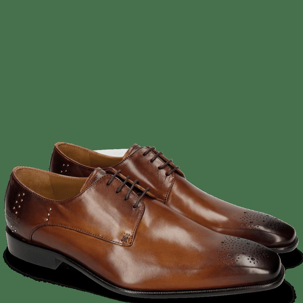 Derby schoenen Albert 1 Sabbia Rivets