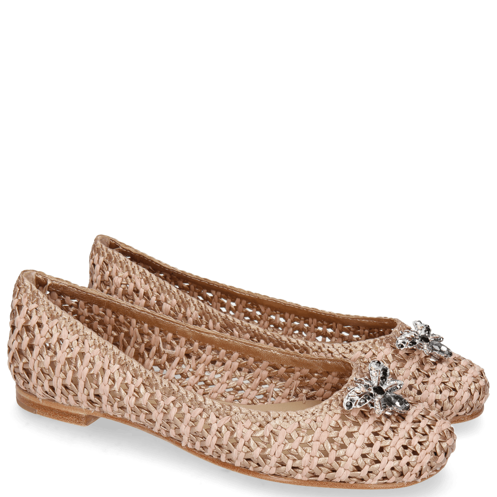 Ballerina's Kate 5 Woven Raffia Rose Accessory Bee