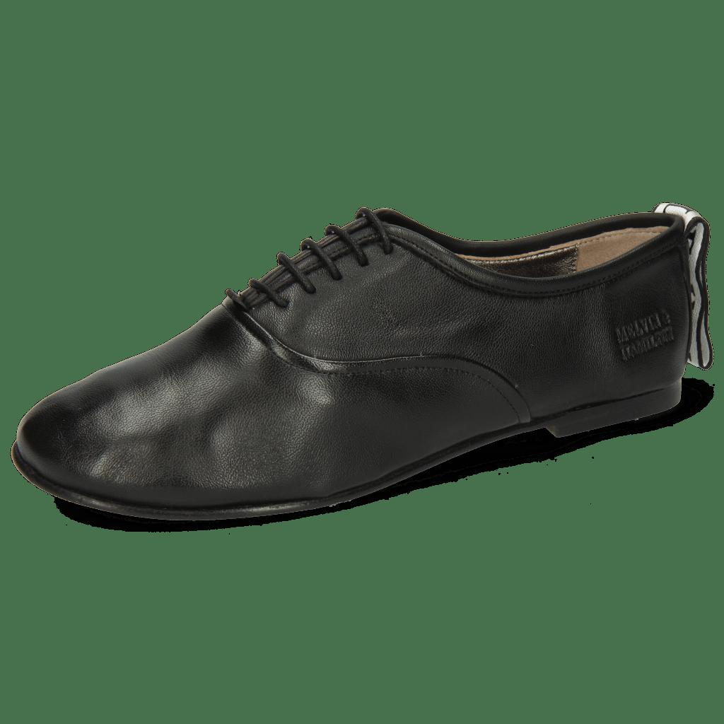 Oxford schoenen Iris 13 Nappa Black Strap M&H Flex