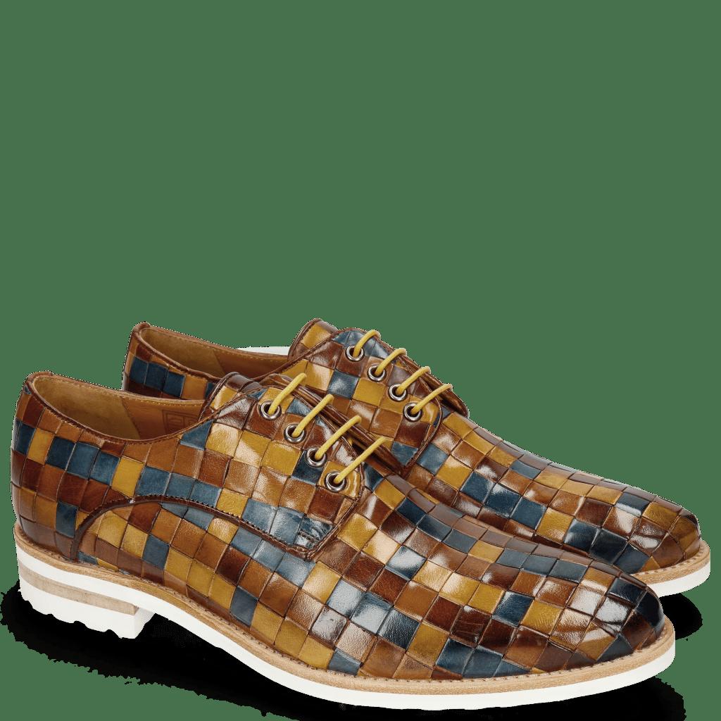 Derby schoenen Brad 7 Woven Multi Olive