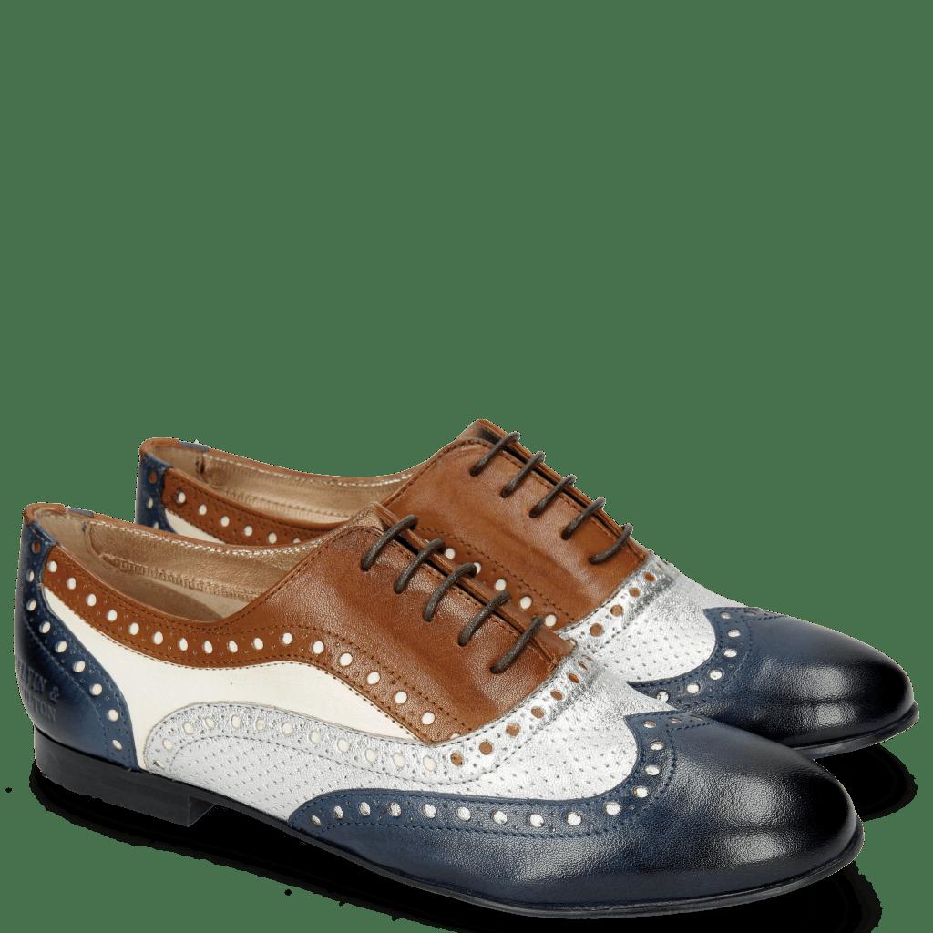 Oxford schoenen Xia 2 Rio Marine Talca Perfo Aluminium Tan White