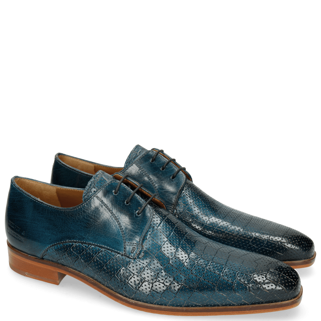 Derby schoenen Lance 8 Crock Perfo Mid Blue