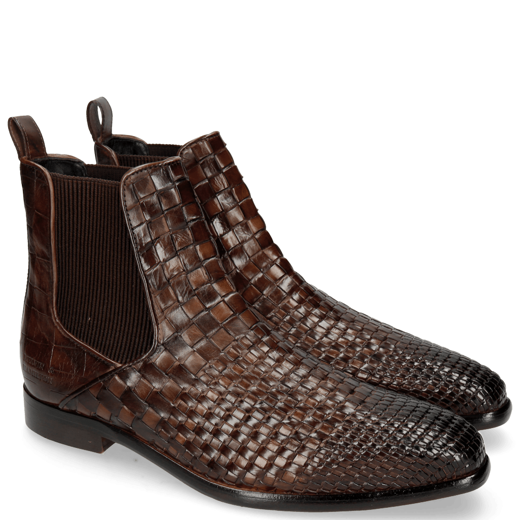 Enkellaarzen Luke 2 Interlaced Turtle Mid Brown