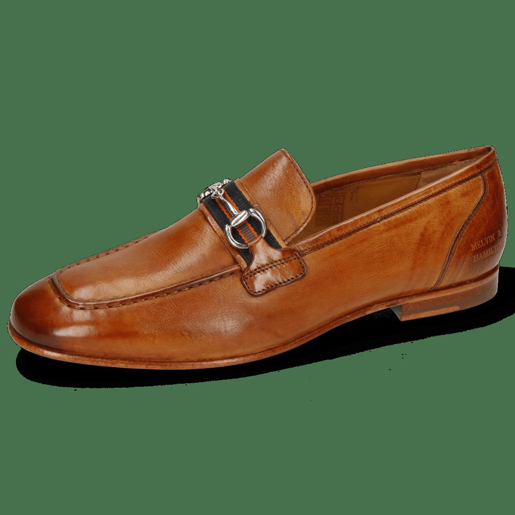 Loafers Clive 16 Pisa Tan Strap Navy Orange Olive